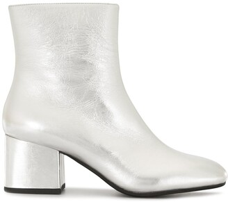 Marni Metallic Square-Toe Ankle Boots