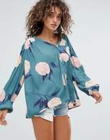 Billabong Floral Printed Beach Shirt