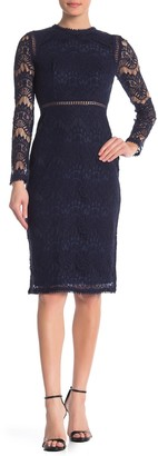 Love by Design Lace Long Sleeve Midi Dress