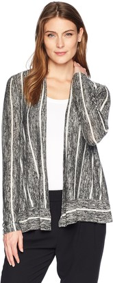 Chaus Women's L/S Marled Stripe Cardigan