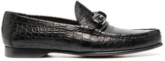 Ralph Lauren Purple Label Caiden crocodile-effect loafers