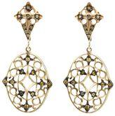 Loree Rodkin lace diamond drop earrings