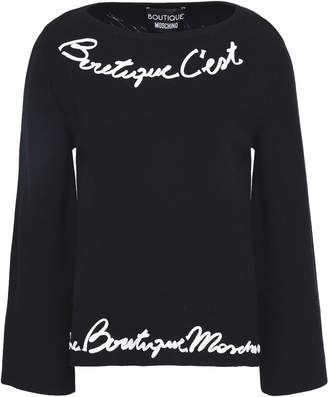 Moschino Braid-trimmed Knitted Sweater