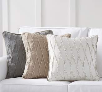 Pottery Barn Pinch Pleat Linen Pillow Cover