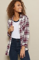 Garage Flannel Plaid Boyfriend Shirt