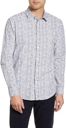 Vince Camuto Vince Caumto Slim Fit Stripe Button-Up Shirt