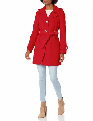 Calvin Klein womens wool trench coat