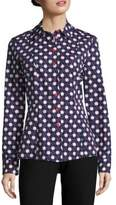 Carven Printed Button-Up Blouse