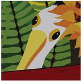Trademark Fine Art Cindy Wider 'Peeping Pelican' Canvas Art