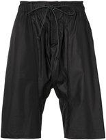 Attachment drawstring shorts - men - Polyester/Rayon - II