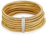 Roberto Coin Primavera Gold & Pave Diamond 6 Row Bangle Bracelet