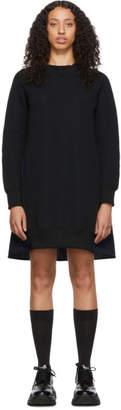 Sacai Black and Navy Sponge Sweatshirt Dress