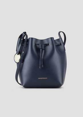Emporio Armani Faux Leather Bucket Bag With Strap