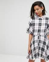 MANGO Check Shirt Dress
