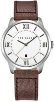 Ted Baker Men&s Three-Hand Quartz Leather Strap Watch