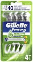 Gillette Sensor3 Sensitive Men's Disposable Razor 4s