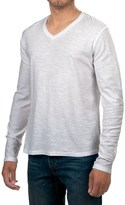 Michael Stars Cotton Slub T-Shirt - V-Neck, Long Sleeve (For Men)