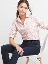 Gap Clip-dot oxford fitted boyfriend shirt