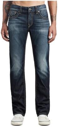 True Religion Men's Ricky Big T Straight Leg Jean with Back Flap Pocket