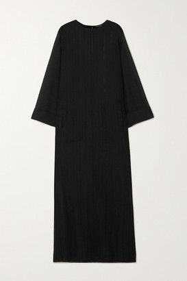 Saint Laurent Wool-voile Kaftan - Black
