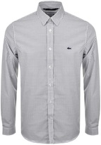 Lacoste Long Sleeved Printed Shirt White