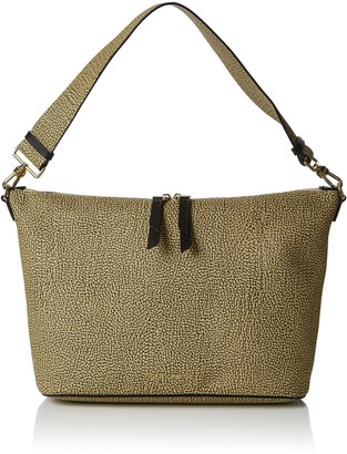Borbonese Hobo Small Womens Shoulder Bag Verde (Safari) 30x24x12.5 cm (W x H L)