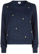 Sundry Star Embroidered Sweater