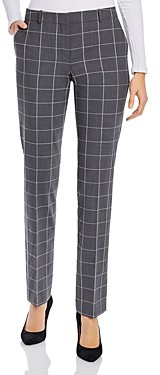 HUGO BOSS Titan Windowpane Print Pants