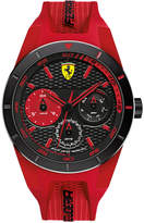 Ferrari Scuderia Men's RedRev T Red Silicone Strap Watch 44mm 830258