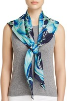 Echo Palm Printed Silk Triangle Scarf