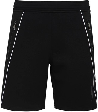 Neil Barrett Stretch Track Shorts W/ Logo Jacquard
