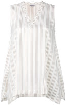Brunello Cucinelli striped tank top - women - Silk - M