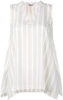 Brunello Cucinelli striped tank top - women - Silk - S