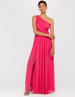 Under Armour Dani One Shoulder Maxi Dress Pink