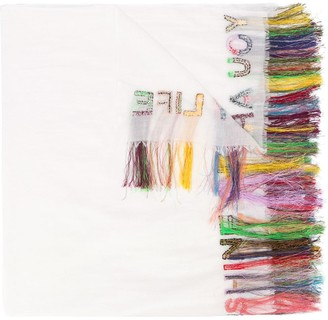 Faliero Sarti Fringed Embroidered Scarf