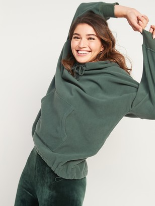 Old Navy Oversized Micro Performance Fleece Pullover Hoodie for Women