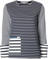 Stella McCartney zipped pocket striped T-shirt - women - Cotton - 38