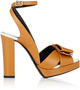 Lanvin Women's Bow-Detailed Leather Platform Sandals