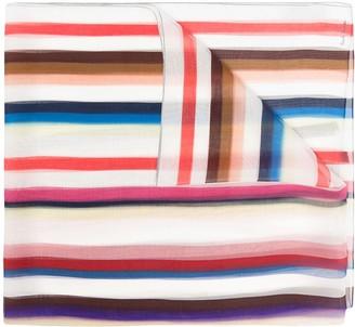 Paul Smith Striped Silk Scarf