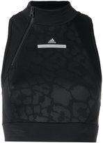 adidas by Stella McCartney Run crop top - women - Spandex/Elastane/Recycled Polyester - XS