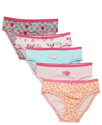 Betsey Johnson Little Girl's 5-Pack Cotton Panties