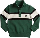 Chaps Toddler Boy 1/2-Button Front Striped Sweater