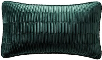 Karen Millen Velvet Pleat Boudoir Cushion - Emerald