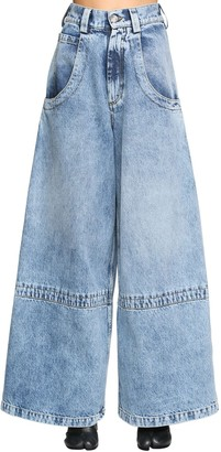 Maison Margiela Diane Keaton Wide Leg Cotton Denim Jeans