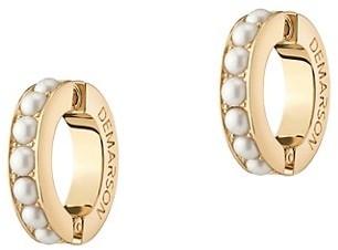 DEMARSON Eden 12K Goldplated & Faux Pearl Cuff Earrings