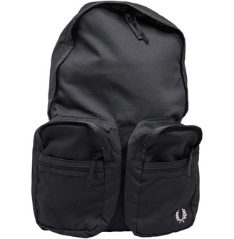 Fred Perry Mens Utility Backpack Black