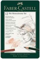 Faber-Castell PITT Monochrome Set 12-Piece Tin Set