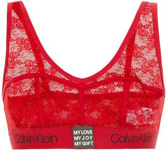 Calvin Klein Underwear Stretch-lace Sports Bra