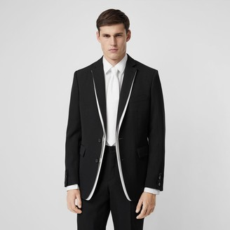 Burberry English Fit Double-front Detail Wool Tailored Jacket