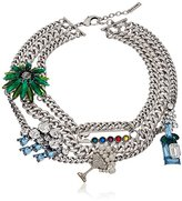 "Marc Jacobs Resort 2016"" Blue Multi-Cloudy Bubbles Statement Chain Necklace"